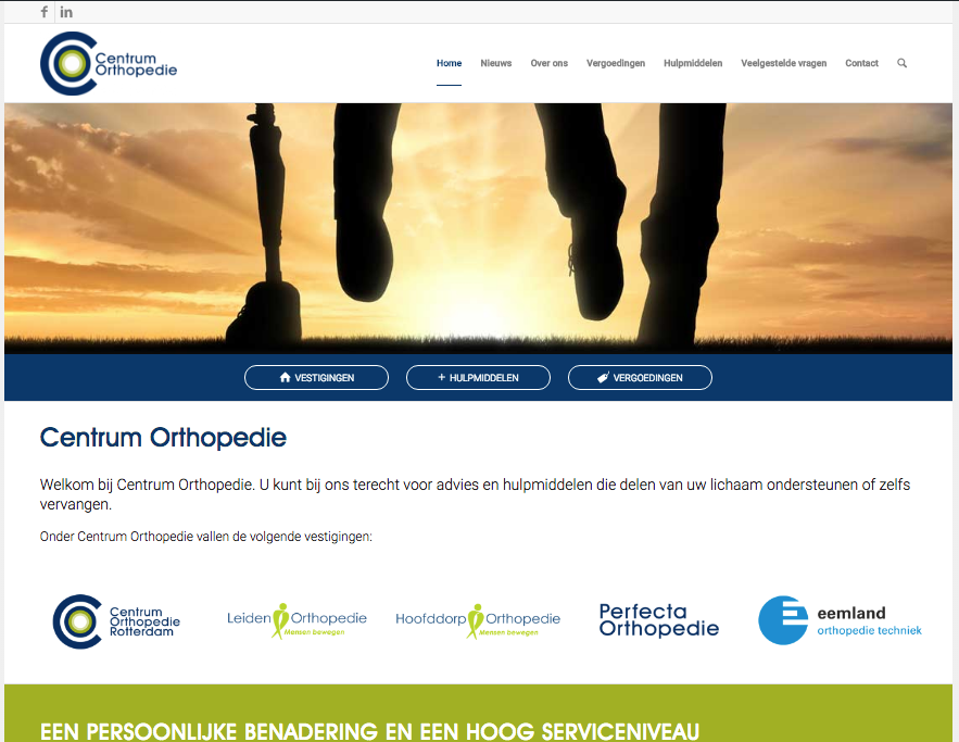 Website Centrum Orthopedie